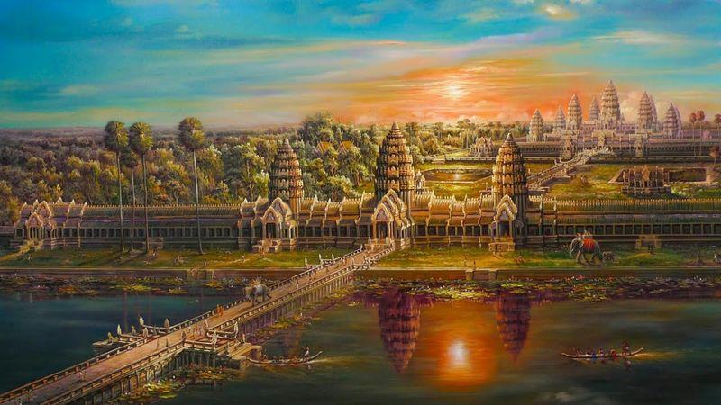 Ангкор Ват во времена расцвета Кхмерской империи в 13 веке